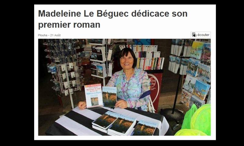Madeleine Le Béguec dédicace son premier roman  Sans_668