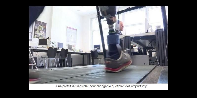 VIDEO. Amputé d'une jambe, il retrouve des sensations grâce à une prothèse Sans_t83