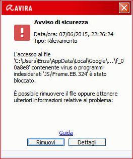 Antivirus che blocca gli utenti Antivi10