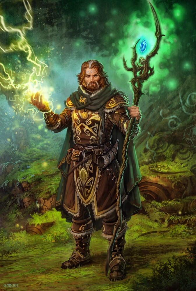 De Gandalf à Qadehar en passant par tout leurs compagnons. Les Praticiens des Arts Occultes. Druid_11