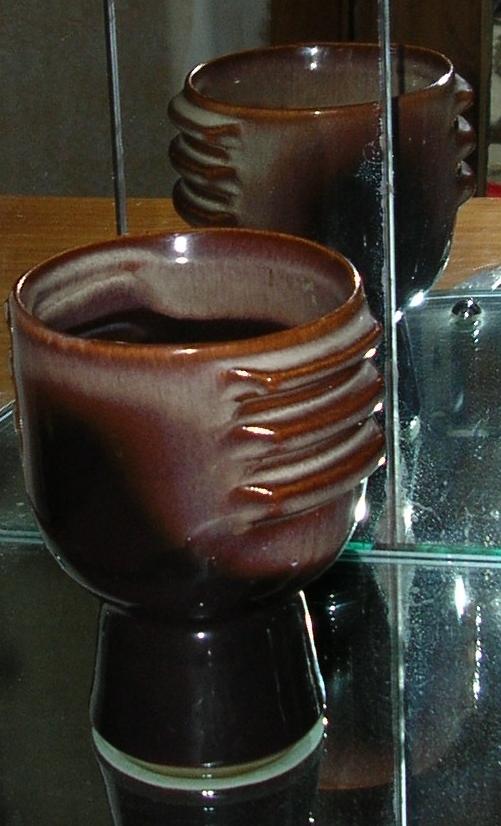 Teal Ceramic Goblet Single11