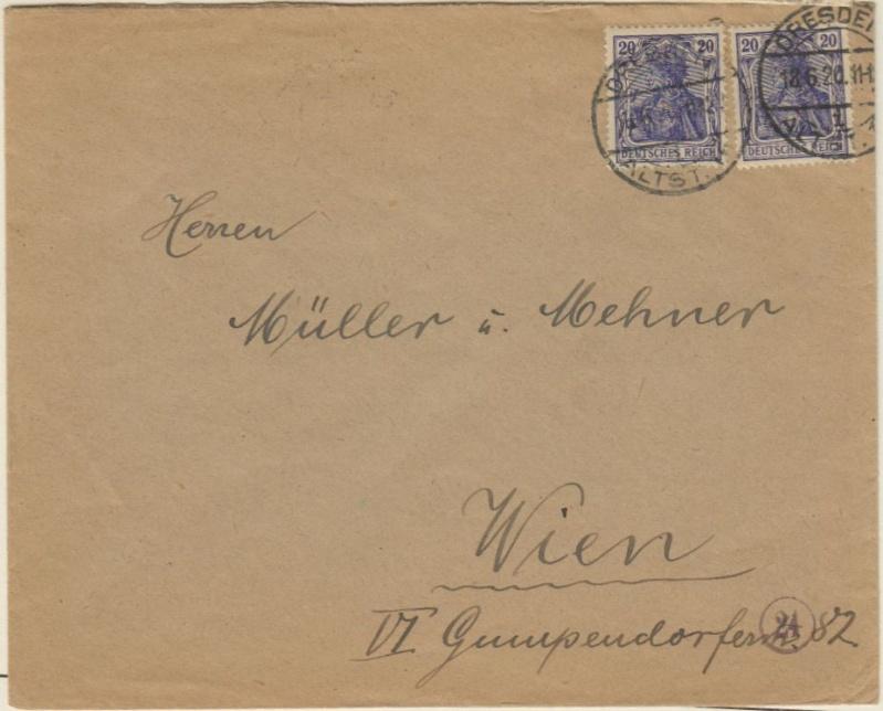 Devisenkontrolle im Deutschen Reich nach Ende des 1. Weltkrieges Dresde10