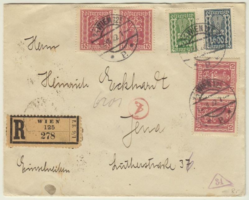nach - Devisenkontrolle im Deutschen Reich nach Ende des 1. Weltkrieges Wien_110