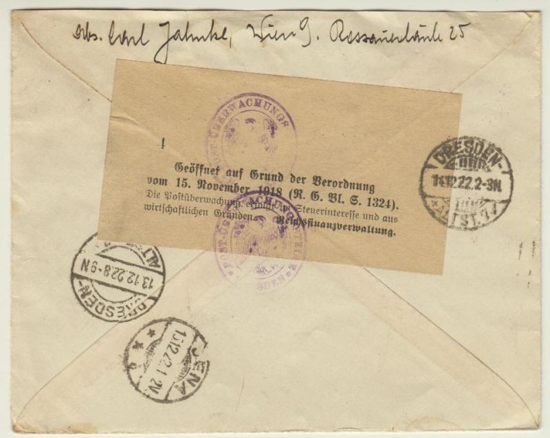 Devisenkontrolle im Deutschen Reich nach Ende des 1. Weltkrieges Wien_111