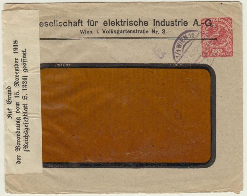 nach - Devisenkontrolle im Deutschen Reich nach Ende des 1. Weltkrieges Wien_112