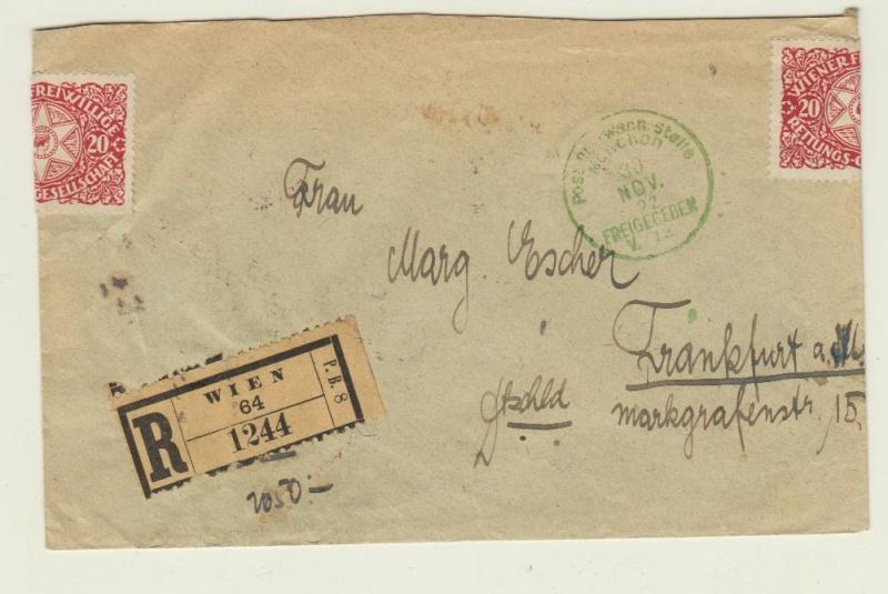 nach - Devisenkontrolle im Deutschen Reich nach Ende des 1. Weltkrieges Wien_213
