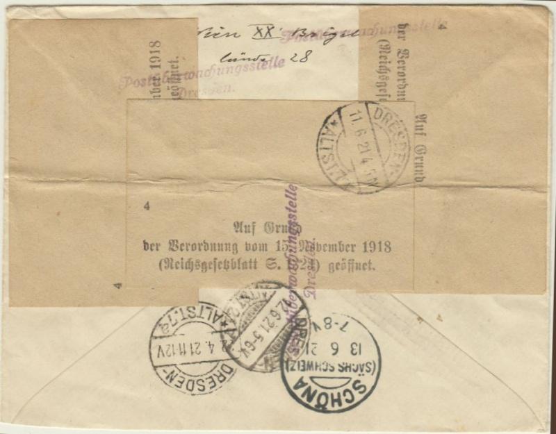 nach - Devisenkontrolle im Deutschen Reich nach Ende des 1. Weltkrieges Wien_216