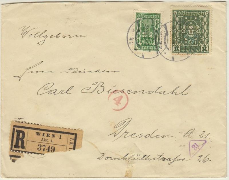 Devisenkontrolle im Deutschen Reich nach Ende des 1. Weltkrieges Wien_217