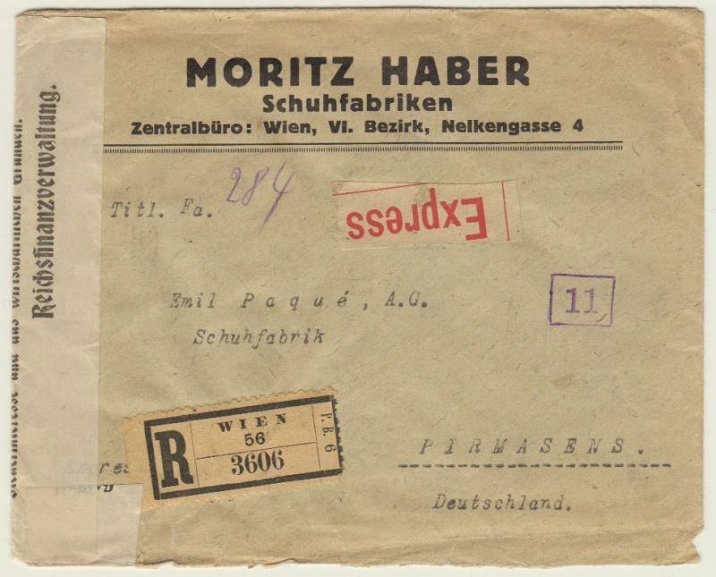 nach - Devisenkontrolle im Deutschen Reich nach Ende des 1. Weltkrieges Wien_711