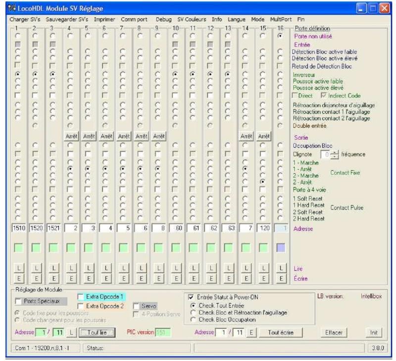 LocoIO : Module d'acquisition / Rétrosignalisation Adress10