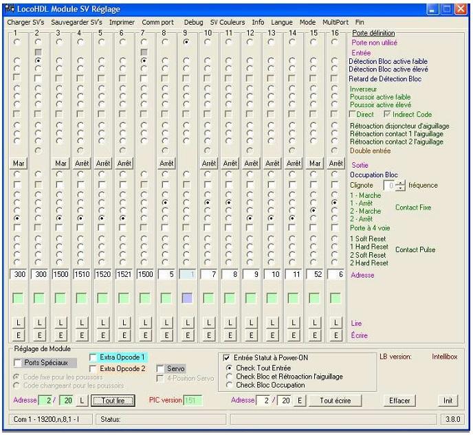 LocoIO : Module d'acquisition / Rétrosignalisation Cablag10