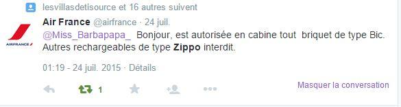 Prendre l'avion avec un ZIPPO. Airfra10