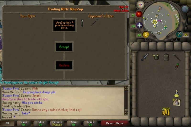 Bank was made today at Zammy. :D Staffs10