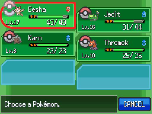 Let's Play Pokemon Uranium! First time through! [Text format] Pku4210