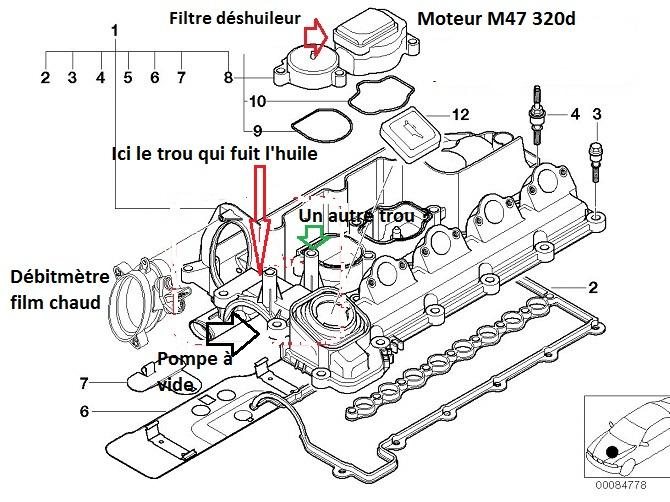 bmw e46 320d m47 an 1999   pression bloc moteur