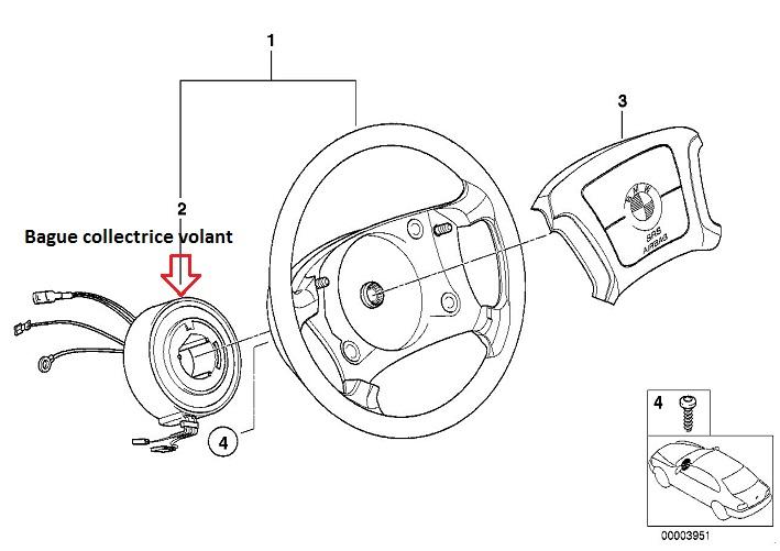 [ BMW E39 525 TDS an 1996 ] volant multifonction ne marche plus 32_e3410