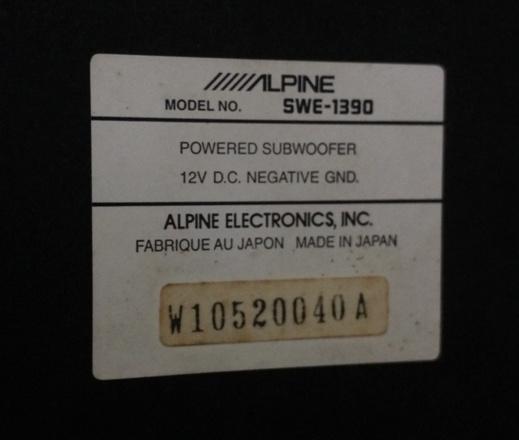 Alpine SWE-1390 Subwoofer (SOLD) Img_2014