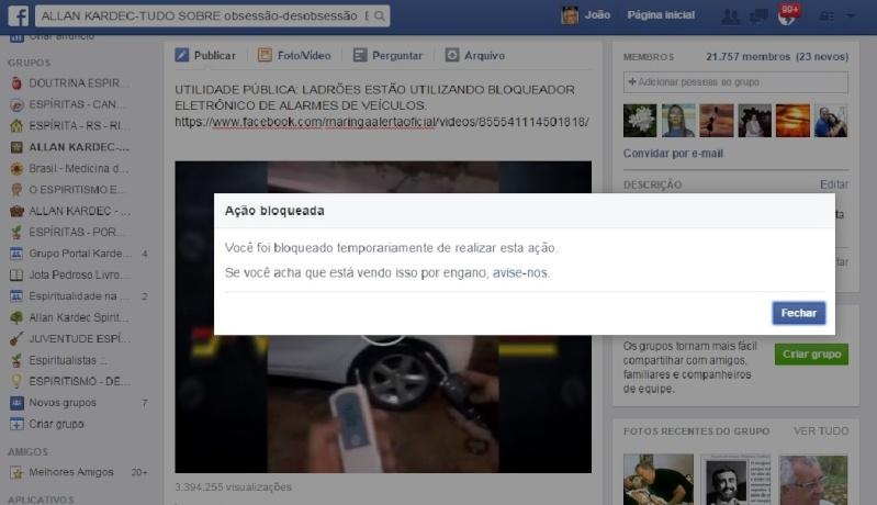Facebook Bloqueia Novamente Perfil  João Pedroso ( Jota Pedroso ) Oficial 11 junho 2015 Bloque12