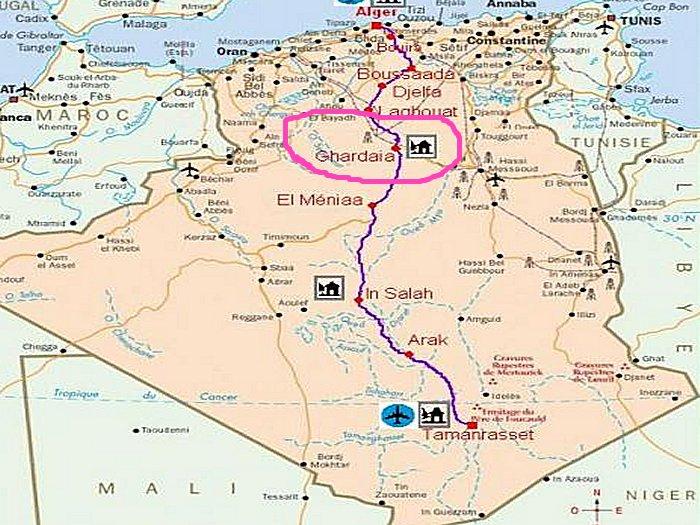 Carte  Amazigh Berbere d'Algerie Gharda12