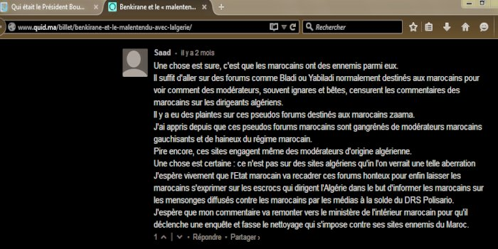 Commentaires de memebres Yabiladi et Bladi Yabila10