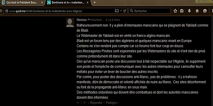 Commentaires de memebres Yabiladi et Bladi Yabila13