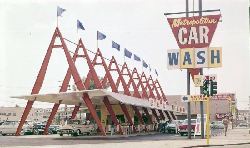Car Wash 1950s - 1960s - Centre de lavage auto 11880310