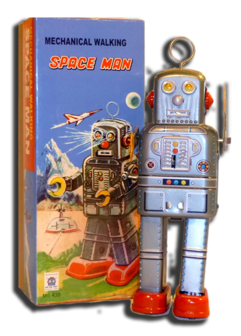 Robots jouets vintages - vintage robot toys 3154