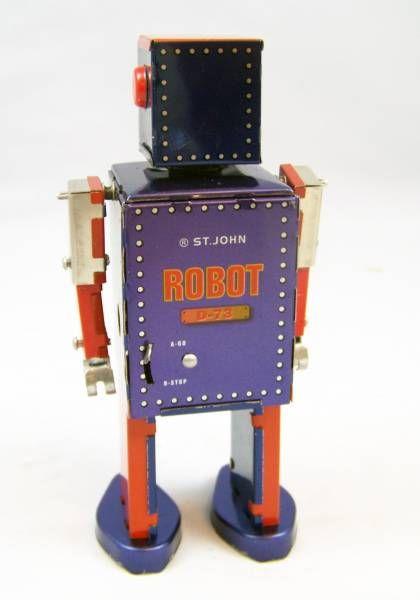Robots jouets vintages - vintage robot toys Robot-12