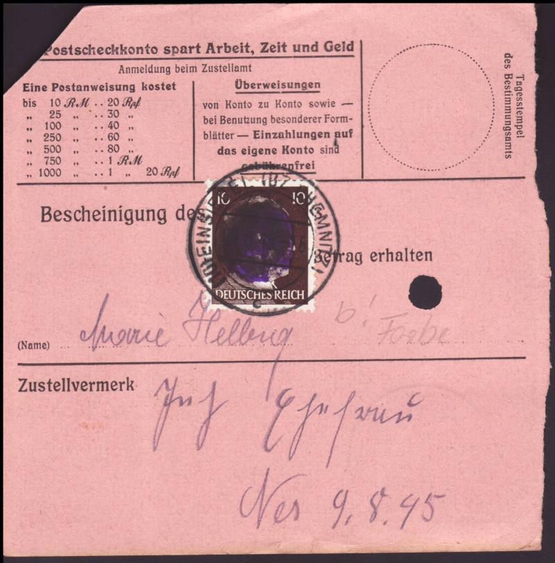Sächsische Schwärzungen -Sowjetische Besatzungszone- Ap787-11