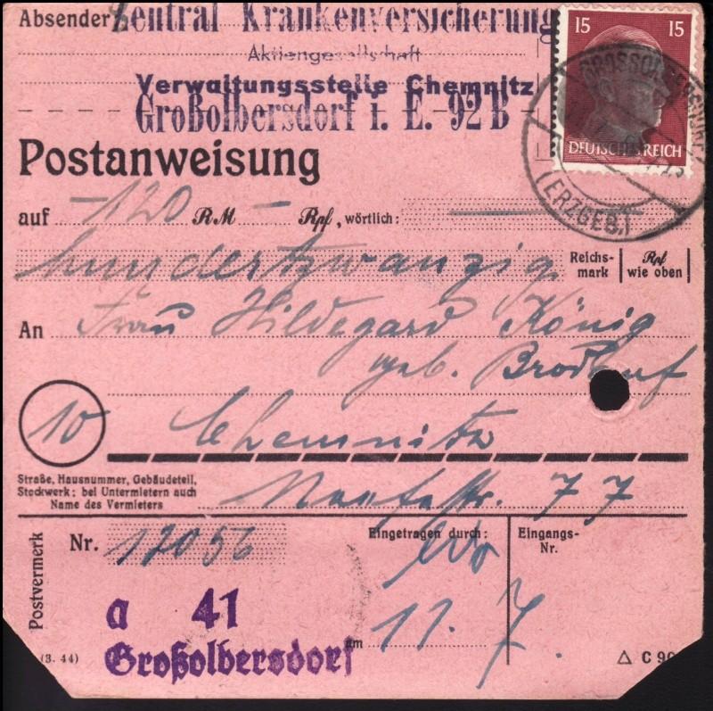 Sächsische Schwärzungen -Sowjetische Besatzungszone- Ap789-10