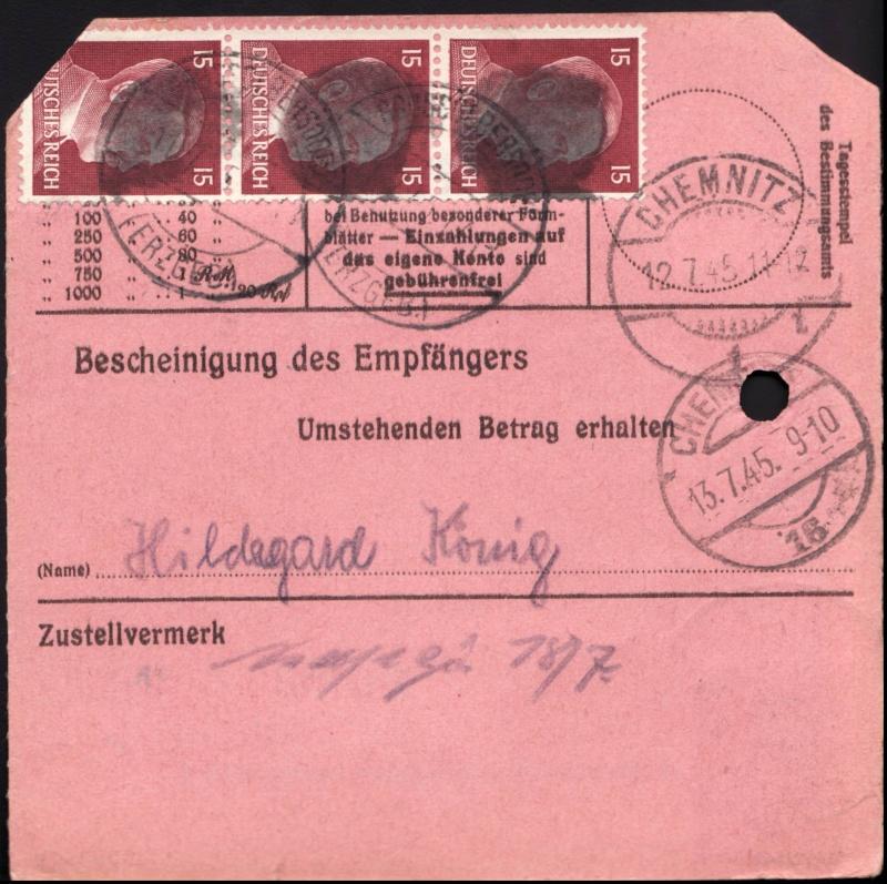 Sächsische Schwärzungen -Sowjetische Besatzungszone- Ap789-11