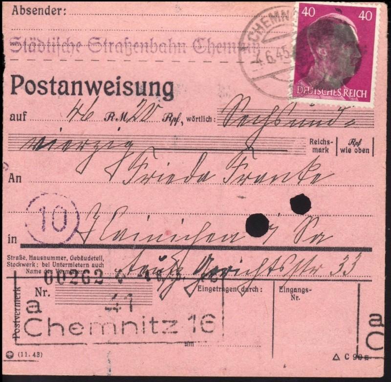 Sächsische Schwärzungen -Sowjetische Besatzungszone- Ap795-10