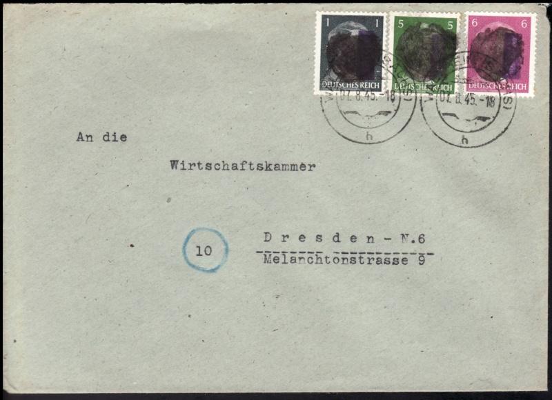 Sächsische Schwärzungen -Sowjetische Besatzungszone- Ap_78110