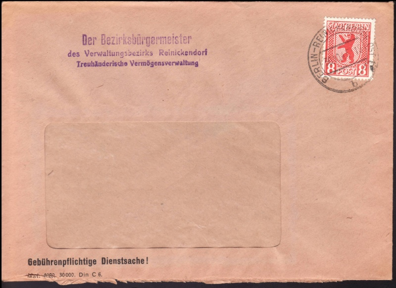 Berlin - Brandenburg (OPD Potsdam) -Sowjetische Besatzungszone- Bln3a10