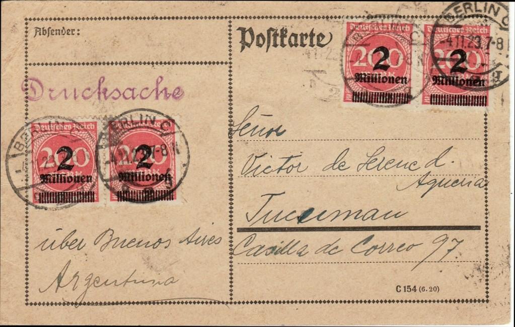 Deutsches Reich Okt. 1918 bis Nov. 1923 Infla-10