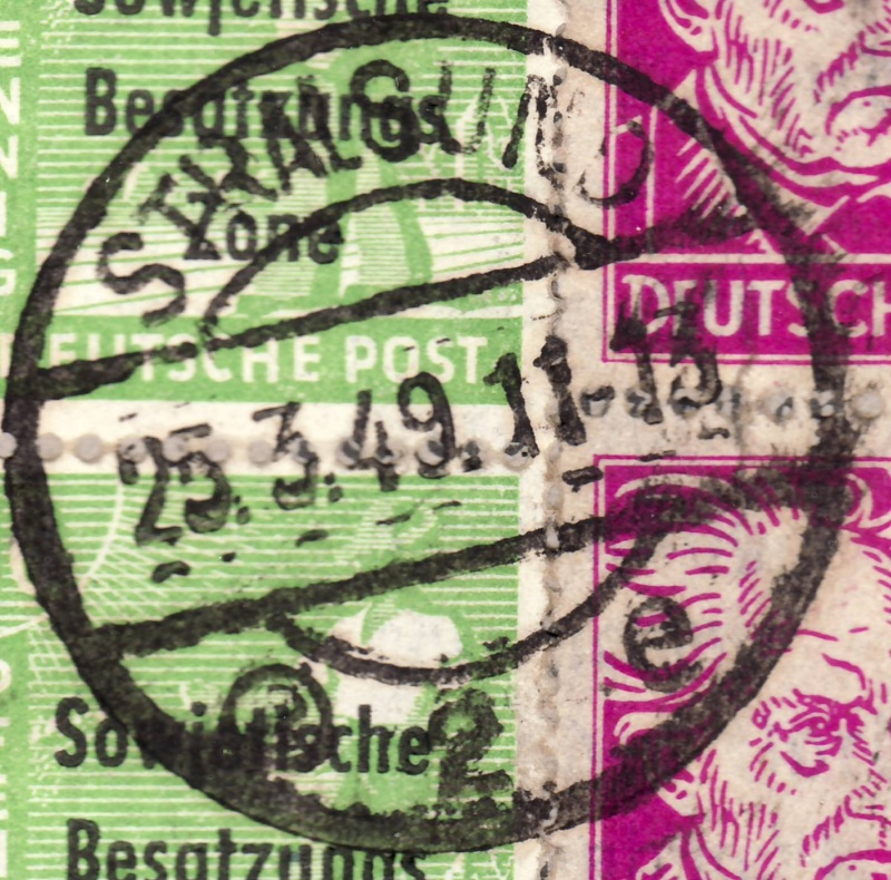 Stempelfälschungen der SBZ Strals11