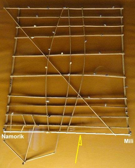 """Les cartes en bâtonnets, ou """"stick charts"""" des Iles Marshall (devinette dédiée à Northman) Rebbil13"""