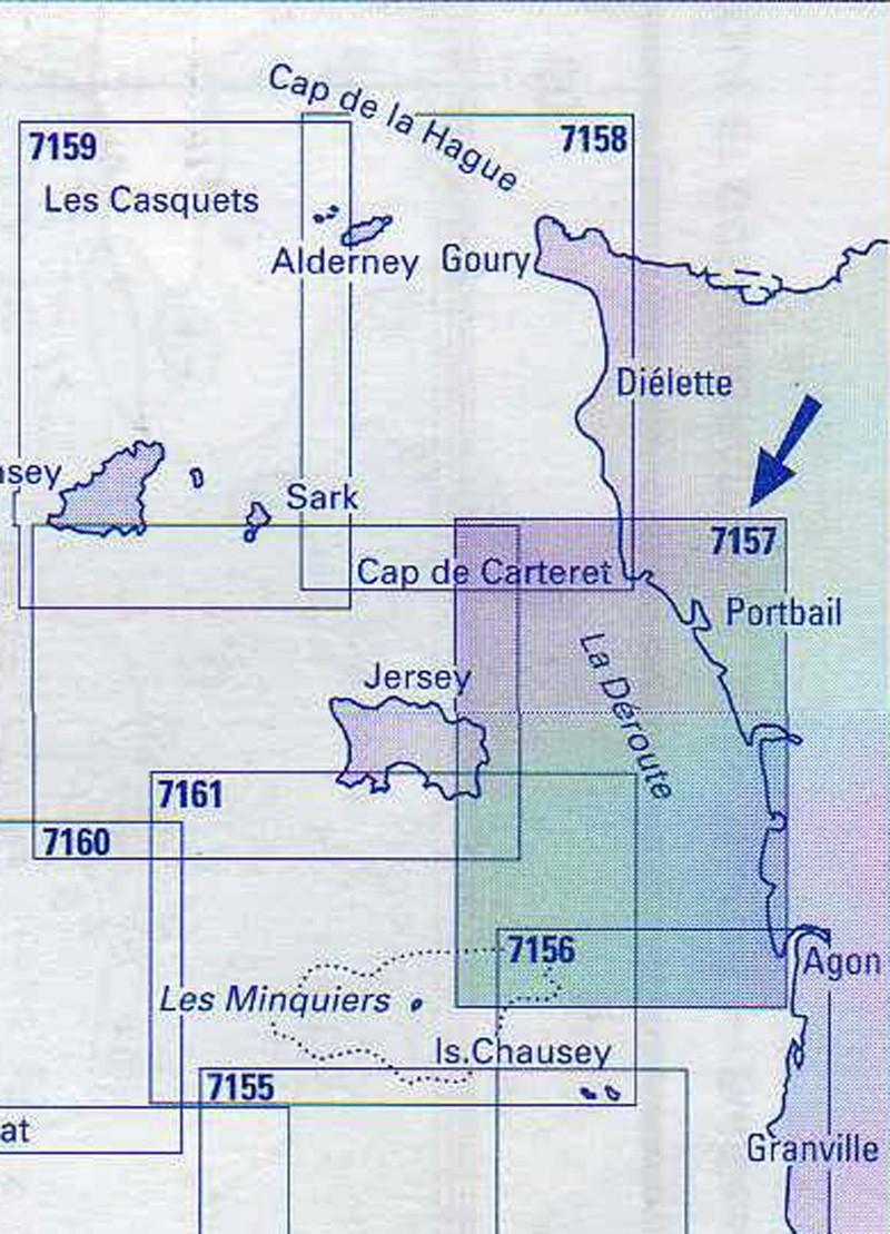Les incroyables maisonnettes en pleine mer sur les îlots des Écréhou. - Page 6 Shom_711