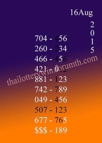 Free Tips 16.8.2558 713