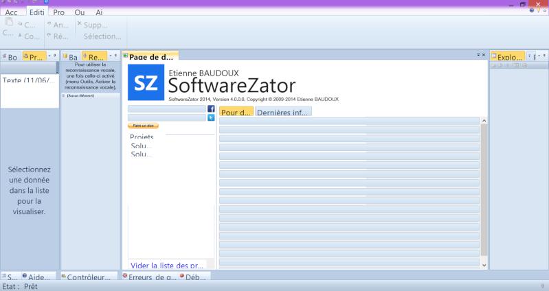 Bug sur les polices de Softwarezator 2014 lui-même, les onglets sont illisibles Softwa11