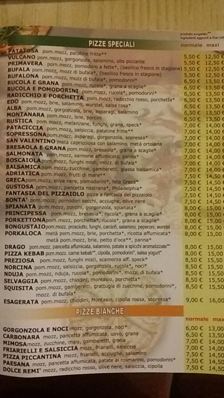 Scelta pizze La Scelta 20150614