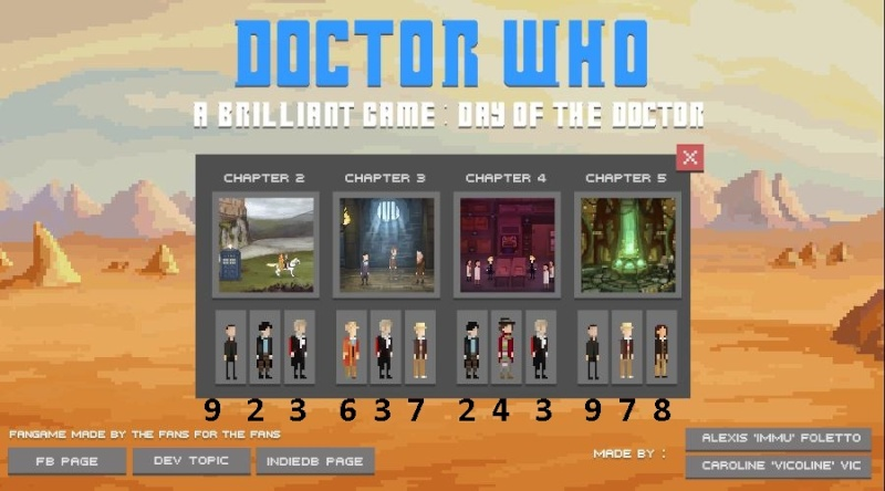 Jeux Flash Doctor Who 50th Triche10
