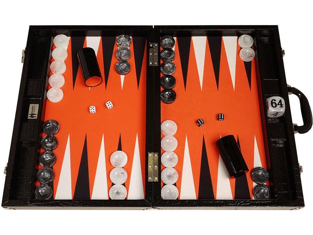 Table basse avec inclusion d'un plateau de backgammon Backga10