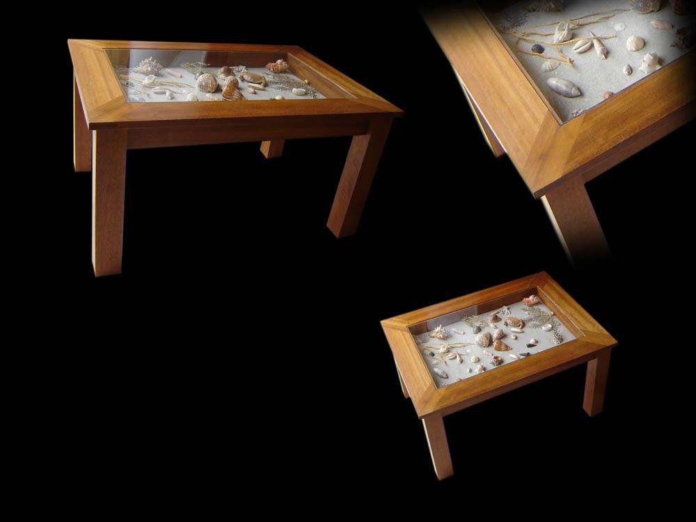 Table basse avec inclusion d'un plateau de backgammon Projet11