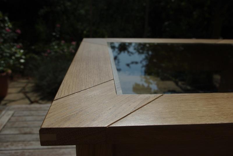 Table basse avec inclusion d'un plateau de backgammon Projet12