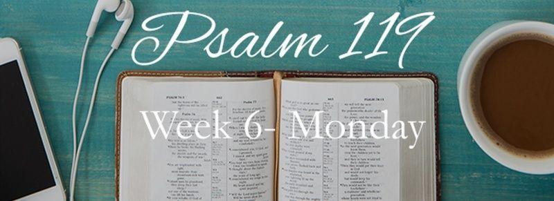 Week 6 Psalm 119 August 10-16