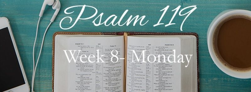 Week 8 PSALM 119 AUGUST 24-30