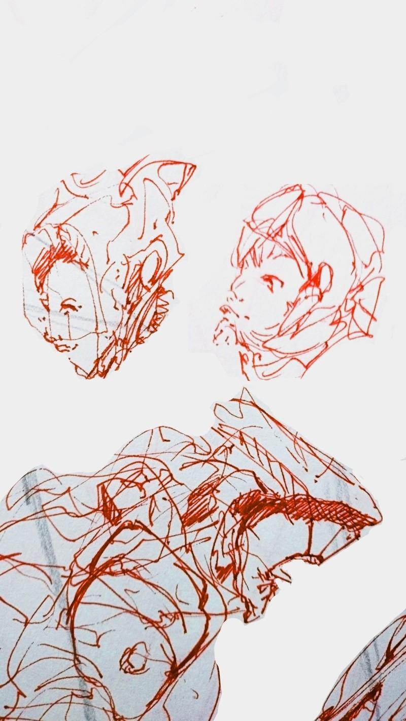 Purple Sketch 0310