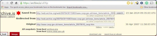 Steve Marsden's WBM screenshot: The CEOP Home page for April 30, 2007 also refers to Missing Madeleine. - Page 2 Ceop_p16