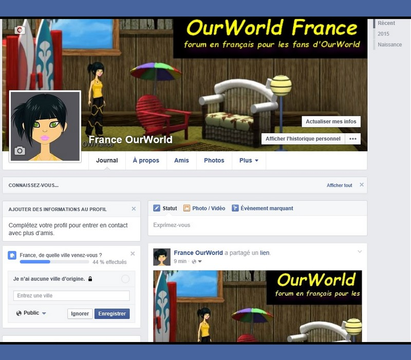 OurWorld France la page Facebook du forum  Sans_t39